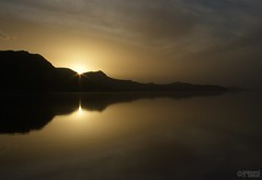 Maharloo Nightfall (Mahmoud R Maheri) Tags: sunset landscape maharloolake iran shiraz lake reflection nightfall dusk sky clouds sun