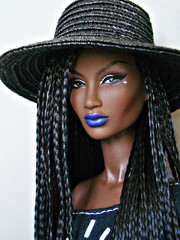 Annik again and again 😊 (Deejay Bafaroy) Tags: fashion royalty fr integrity toys black doll puppe barbie annik theawakening awakening nuface portrait porträt schwarz braids hat hut