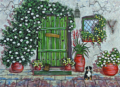 timeless cottage (sw2019 (Alt_images)) Tags: cottage home flowers dog ivy wall old texture
