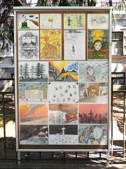 Students' commemorative artworks (Anita363) Tags: art drawing drawings student child children childrens vilnius lithuania june14