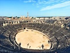 Panem et circenses (marc.barrot) Tags: shotoniphone spqr ancientrome antiquity roman france midi gard 30 nîmes boulevarddesarènes arènesdenîmes