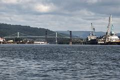 Portland Bridgescape (OregonDOT) Tags: psu portlandstateuniversity oregondot oregon stem transportationsummercamp willamette river bridge stjohnbridge water shipyard
