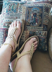 IMG_20190808_155201214~2 (eirenna_unveiled) Tags: foot feet toes legs sandals polishedtoes polishedtoenails