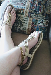 IMG_20190808_155300990~2 (eirenna_unveiled) Tags: foot feet toes legs sandals polishedtoes polishedtoenails