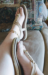 IMG_20190808_155625595~2 (eirenna_unveiled) Tags: foot feet toes legs sandals polishedtoes polishedtoenails