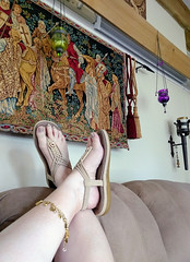 IMG_20190808_155723376~2 (eirenna_unveiled) Tags: foot feet toes legs sandals polishedtoes polishedtoenails