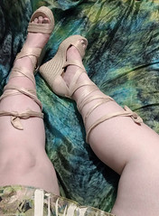 IMG_20190808_163451956~2 (eirenna_unveiled) Tags: foot feet toes legs sandals polishedtoes polishedtoenails