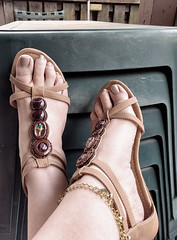 IMG_20190808_182308837_HDR~2 (eirenna_unveiled) Tags: foot feet toes legs sandals polishedtoes polishedtoenails