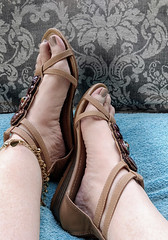 IMG_20190808_182825217~2 (eirenna_unveiled) Tags: foot feet toes legs sandals polishedtoes polishedtoenails