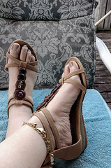 IMG_20190808_182947751~2 (eirenna_unveiled) Tags: foot feet toes legs sandals polishedtoes polishedtoenails