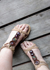 IMG_20190808_183234446~2 (eirenna_unveiled) Tags: foot feet toes legs sandals polishedtoes polishedtoenails