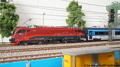 Roco 73247 Rh 1216 der ÖBB im railjet Design (Freestyler26M) Tags: roco modelleisenbahn 187 spurh0 73247 73248 79248 öbb railjet 1216 017 siemens taurus