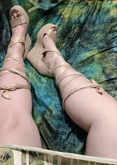 IMG_20190808_163432986~2 (eirenna_unveiled) Tags: foot feet toes legs sandals polishedtoes polishedtoenails