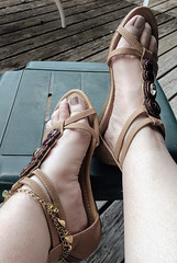 IMG_20190808_181956073_HDR~2 (eirenna_unveiled) Tags: foot feet toes legs sandals polishedtoes polishedtoenails