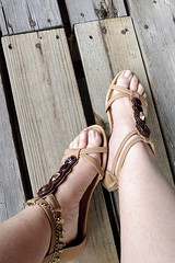 IMG_20190808_182116739~2 (eirenna_unveiled) Tags: foot feet toes legs sandals polishedtoes polishedtoenails