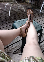 IMG_20190808_182639453~2 (eirenna_unveiled) Tags: foot feet toes legs sandals polishedtoes polishedtoenails