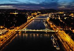 Budapest (HorvathZsolt73) Tags: night nightlight flying fly dji drón mavicair bridge duna river lightning sky