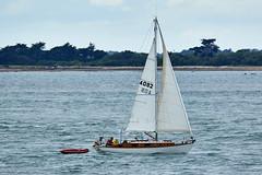 Voilier à l'entrée du Golfe du Morbihan (Port Navalo) (ijmd) Tags: france morbihan golfedumorbihan presquîlederhuys bateau boat portnavalo
