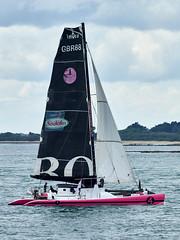 Catamaran « Il et Elle » (18 m) à l'entrée du Golfe du Morbihan (Port Navalo) (ijmd) Tags: france morbihan golfedumorbihan presquîlederhuys bateau boat portnavalo