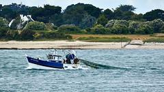 Bateau de pêche à l'entrée du Golfe du Morbihan (Port Navalo) (ijmd) Tags: france morbihan golfedumorbihan presquîlederhuys bateau boat portnavalo