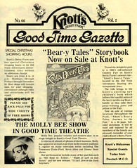 Knott's Berry Farm (jericl cat) Tags: knotts berryfarm paper ephemera souvenir vintage history 1975 park map good time gazette logo article beary tales book storybook mollybee show ride attraction schedule stunt folklore patboone sharilewis christmas