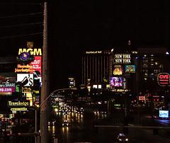 The South End of The Strip (brucekester@sbcglobal.net) Tags: lasvegasstrip lasvegas nevada nightscene mandalaybay newyorkny nightstreet