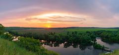Sunrise over the river (gubanov77) Tags: nature landscape sunrise dawn russia river krasivayamecha красиваямеча ishutino summer summertime morning skyline glow goldenhour panorama
