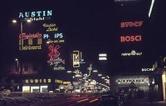 Vienna Kärntner Strasse 1969 (brucekester@sbcglobal.net) Tags: viennaringstrasse zenite35mmfilmcamera nightshot epsonv700scanner airfrance vienna 1969 nightstreet