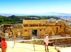 Acropolis. Arrephorion (dimaruss34) Tags: newyork brooklyn dmitriyfomenko image sky skyline clouds greece athens acropolis people ruins architecture