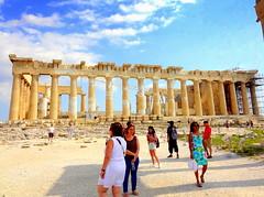 Acropolis. Parthenon (dimaruss34) Tags: newyork brooklyn dmitriyfomenko image sky skyline clouds greece athens acropolis people ruins architecture parthenon