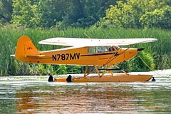 Seaplane - American Legend AL-11 Cub N787MV (OSH) (edit) (MO FunGuy) Tags: oshkosh airshow winnebago lake seaplane airplane