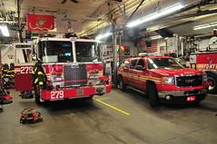 FDNY Engine 279 · Battalion 1 (Triborough) Tags: ny nyc newyork newyorkcity newyorkcounty manhattan civiccenter lowermanhattan fdny newyorkcityfiredepartment firetruck fireengine engine engine279 kme battalion battaion1 firechief chief gm gmc 2500 sierra 2500hd odyssey pickup pickuptruck