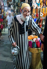 Shop Owner - Marrakech Souk, Morocco (TravelsWithDan) Tags: oldman streetportrait shopowner souk marrakech morocco africa city urban portrait canong3x availablelight