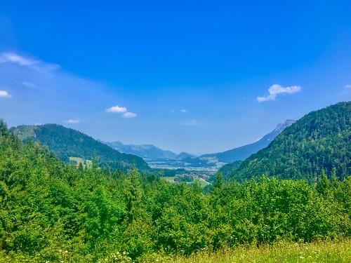 Landscape in Breitenau near Kiefersfelden, Bavaria, Germany