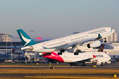 Cathay Pacific Airbus A330-343 B-LAC (Mark Harris photography) Tags: spotting airbus a330 cx yssy sydney