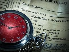 Soviet Time (GarSham) Tags: printedword macro watch macromondays closeup