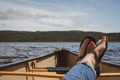 Go to your Happy Place ... (vanessa violet) Tags: smileonsaturday shoe sandal gotoyourhappyplace lake canoe happyplace pond secondpond shoeshow vanessaviolet