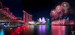 Happy Birthday Singapore! (DanielKHC) Tags: singapore ndp 2019 national day parade fireworks panorama helix bridge marina bay sands nikon d850 nikkor 19mm tilt shift nisi natural night filter