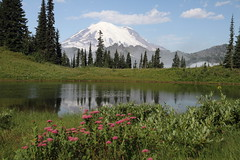 Mount Rainier and Unnamed (Upper Tipsoo) Lake (jlcummins) Tags: mountrainiernationalpark mountrainier nationalparks washingtonstate mountains cascademountains canonefs1585mmf3556isusmlens