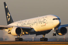 "Asiana Airlines ""Star Alliance"" Boeing 777-28E/ER HL7732 (Mark Harris photography) Tags: spotting aar asiana boeing 772 sydney yssy canon aviation plane 5d"