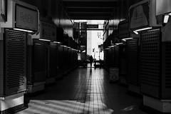 Street (lightersideofdark) Tags: blackwhite shoppingarcade ally silhouette streetphotography outside outdoors