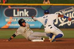 A play at 2nd (Minda Haas Kuhlmann) Tags: sports baseball milb minorleaguebaseball pacificcoastleague omahastormchasers omaha nebraska papillion sarpycounty outdoors erickmejia saltlakebees