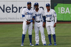 Los tres amigos (Minda Haas Kuhlmann) Tags: sports baseball milb minorleaguebaseball pacificcoastleague omahastormchasers omaha nebraska papillion sarpycounty outdoors kelvingutierrez elierhernandez erickmejia