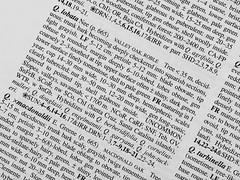 Tiny Printed Word (oldhiker111) Tags: monochrome macromondays printedword