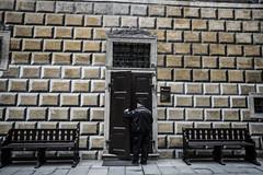 Fake Brickwall with Real Door (BisonAlex) Tags: ceskykrumlov czche克倫洛夫 ck小鎮 捷克 europe 歐洲 sony a73 a7iii a7m3 a7 taiwan 台灣 外拍 旅拍 travel 街拍 street streetphoto streetshot