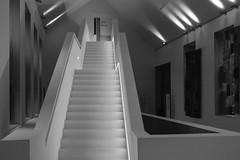 Sleek (Rob Oo) Tags: belgium belgië ccby40 malines mechelen ro016b stairs blackandwhite sleek abstract architecture treppen escalier