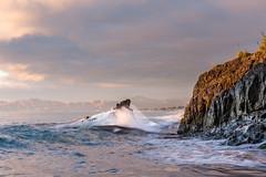 Splash! (DaveHorton_) Tags: coast landscape marlborough monkeybay nz newzealand polariser rarangi sunrise
