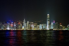 Hong Kong skyline at night (2005) (bysted@mail.tele.dk) Tags: victoriaharbour 2005 night skyline hongkong