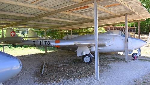de Havilland DH.100 Vampire FB.6 c/n 687 Switzerland Air Force serial J-1178