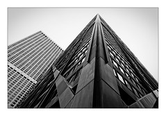 Hancock Tower (Jean-Louis DUMAS) Tags: city cityscape architecture architect architecte architectural architecturale bâtiment building reflecting chicago sony art batiment twop tower award monochrome noir blanc black white bn bnw nb ngc noiretblanc bw photos maniac noireblanc illinois tour people photoadd